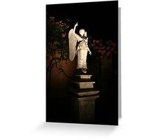 Angel at Night Greeting Card