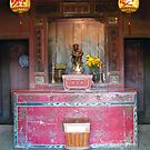 Shrine, covered Japanese  Bridge, Hoi An, Vietnam  by John Mitchell