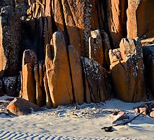 Rocks, Sunset and Ripples by bazcelt
