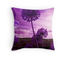 Into the Purple Dusk Throw Pillow