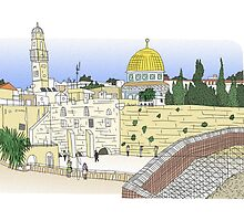 Temple Mount, Jerusalem by Steve Wiltshire