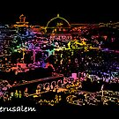 Jerusalem by night by dominiquelandau