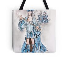 Christian in Blue or Cristiano Azul Tote Bag