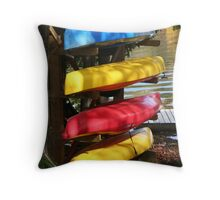 Colourful Canoes - Algonquin Outfitters Throw Pillow