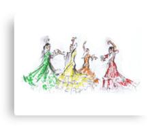 Flamenco in Colour or Flamenco en Color Canvas Print