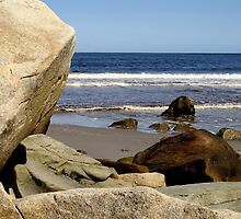 Boulders on the Beach by RevJoc