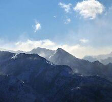 Panorama of Windblown Snow-Wasatch Range by Ryan Houston