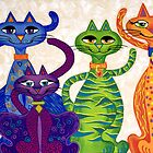 'High Street Cats' - a little bit Posh! (larger version) by Lisa Frances Judd ~ Original Australian Art