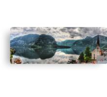 Hallstatter Lake, Austria - HDR Panorama Canvas Print