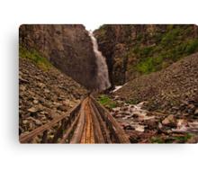 Walkway to Njupeskär Waterfall Canvas Print