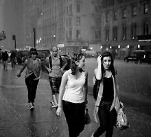 Shower on 7th avenue by Laurent Hunziker