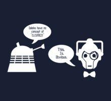 Daleks vs. Cybermen - The Inelegant Dalek by jelitan