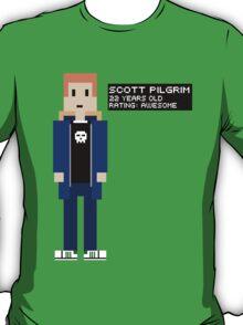 Scott Pilgrim - Rating: Awesome - 8-Bit T-Shirt
