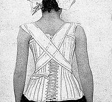 Mysterious Vintage Woman in Corset by Zehda