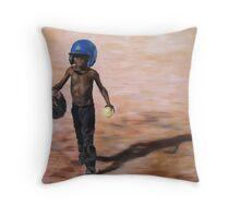 Baseball Boy III Throw Pillow