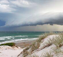 Storm rolls out to sea at Broadwater, NSW by Dave Ellem