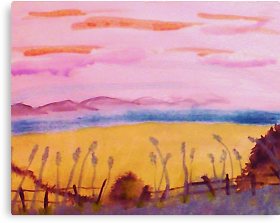 Peaceful place, watercolor by Anna  Lewis