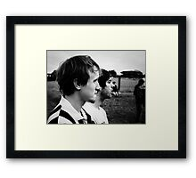 Lucas and Mike Framed Print