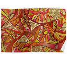 Abstract Tangerine Poster