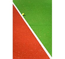 Red :: Green :: White Line and Tennis Ball Photographic Print