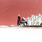 Lighthouse in the Snow by Eileen McVey