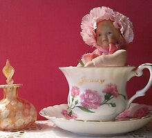 Little Pink Lady in a Teacup by Patricia127