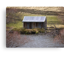 Mansion by the Lake Canvas Print