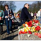Flowers at the Monument 2, May 9 (Victory Day) 2011, Rga, Latvia.  (2011) by Madeleine Marx-Bentley