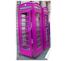 Telephone Box, Covent Garden, London Poster
