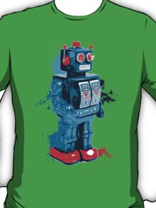 Blue Toy Robot Splattery Shirt T-Shirt