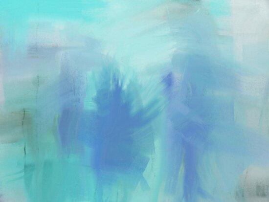 Ice Blue Figures by Betty Mackey