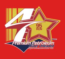 '4 Star' High Performance Petrol Logo T-Shirt by Autographics