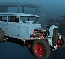 "1931 Ford Sedan Hot Rod ""Fade to Blue"" by TeeMack"