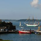 Tall Ship Gloria passes Duncannon Fort, Waterford Harbour, Ireland by Andrew Jones