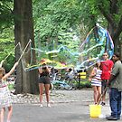 Making Big Bubbles in Central Park,NYC by Patricia127
