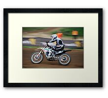 MX Nationals  Wodonga July  2011 Framed Print