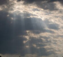 Waterfalls of light from the heavens by Roger-Cyndy