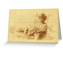 Looking After Baby Greeting Card