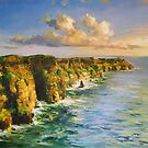 Cliffs of Mohar County Clare by conchubar