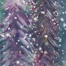 Winter Pine Trees by ©Maria Medeiros