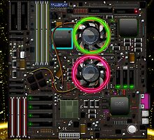 Computer Motherboard by bartondesign