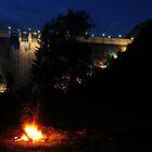 Dam Fire - Bicaz, Romania by Derek McMorrine