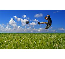 Soccer Player Photographic Print