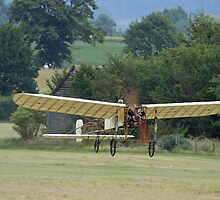 1910 Bleriot X1 Flying by Hertsman