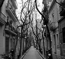 Empty Barcelona Street by freeflyjobo