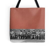 a bench Tote Bag