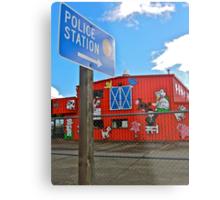 Police station sign Metal Print