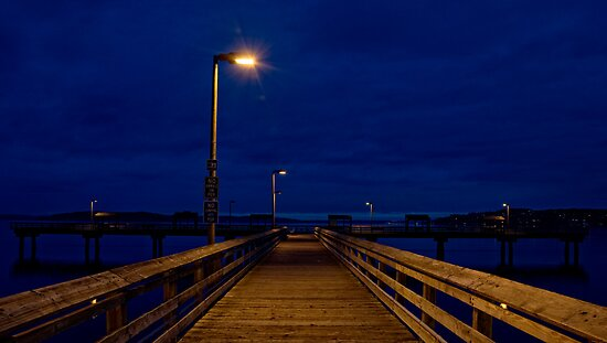 Led Davis Pier, 4:30 am by heavydpj