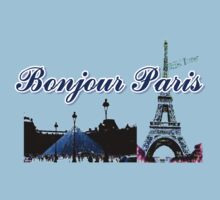 Beautiful Effel tower& Luvoure museum Paris france graphic art by cheeckymonkey