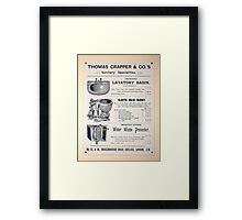 Toilet Wall Decoration Framed Print